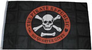 Fahne / Flagge (ca 150x100cm): The Pirate Republic - No Quarter Given