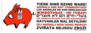 Aufkleber: Tiere sind keine Ware