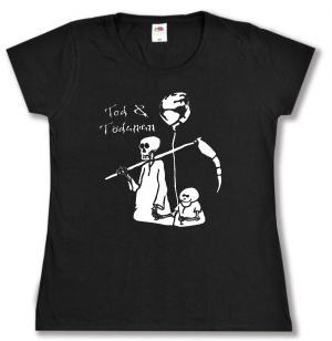 tailliertes T-Shirt: Tod und Tödchen