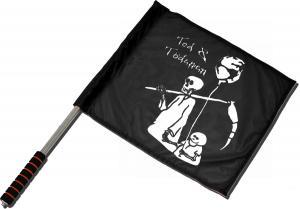 Fahne / Flagge (ca. 40x35cm): Tod und Tötchen