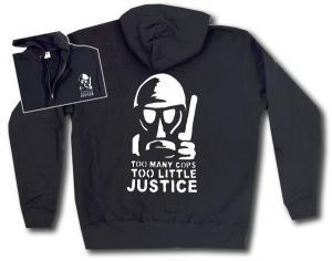Kapuzen-Jacke: Too many Cops - Too little Justice