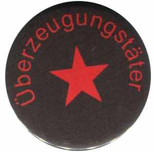 50mm Magnet-Button: Überzeugungstäter roter Stern