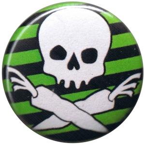 25mm Button: Vegan Piraten