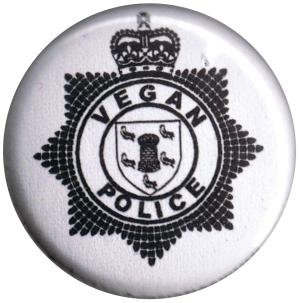 25mm Button: Vegan Police