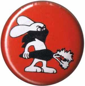 25mm Magnet-Button: Vegan Rabbit - Red