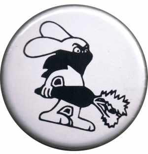 37mm Magnet-Button: Vegan Rabbit - White