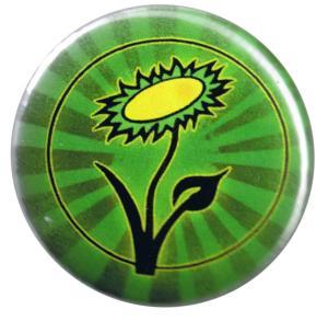 25mm Button: Vegane Blume