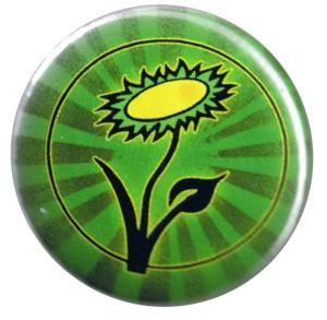 25mm Magnet-Button: Vegane Blume