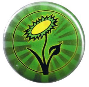 50mm Magnet-Button: Vegane Blume
