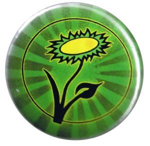 37mm Magnet-Button: Vegane Blume
