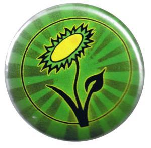 50mm Button: Vegane Blume