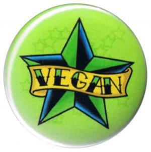 25mm Button: Veganer Stern