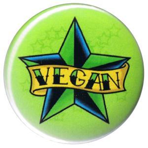 37mm Button: Veganer Stern