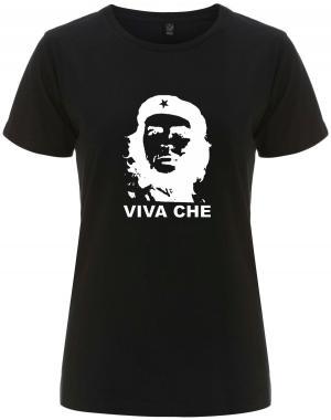 tailliertes Fairtrade T-Shirt: Viva Che Guevara (weiß/schwarz)