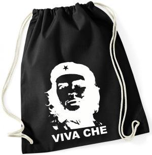Sportbeutel: Viva Che Guevara (weiß/schwarz)