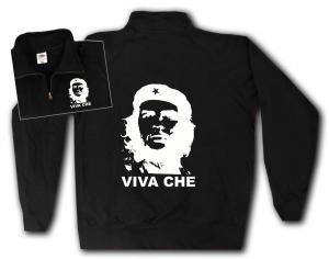 Sweat-Jacket: Viva Che Guevara (weiß/schwarz)