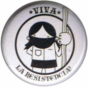 37mm Magnet-Button: Viva la Resistencia!