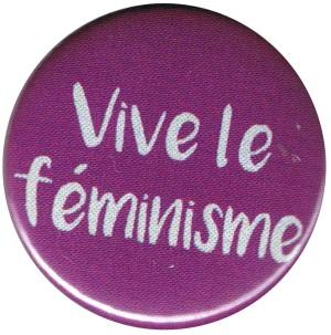 50mm Button: Vive le feminisme