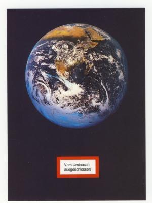 Postkarte: Vom Umtausch ausgeschlossen