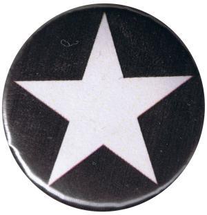 37mm Magnet-Button: Weißer Stern (schwarz)