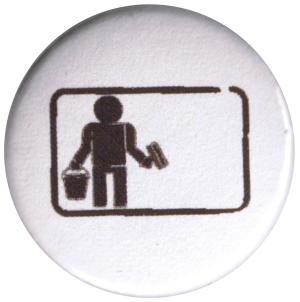37mm Magnet-Button: Wild plakatieren