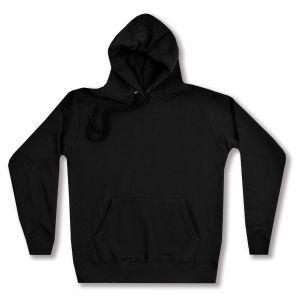 taillierter Kapuzen-Pullover: Women Kapuzenpullover (schwarz)