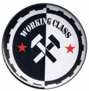 37mm Magnet-Button: Working Class Hämmer