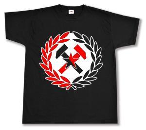 T-Shirt: Working Class Hammer (rot/schwarz)