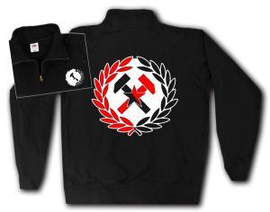 Sweat-Jacket: Working Class Hammer (rot/schwarz)