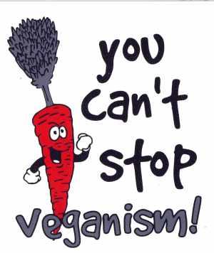 Aufkleber: You cant Stop Veganism!