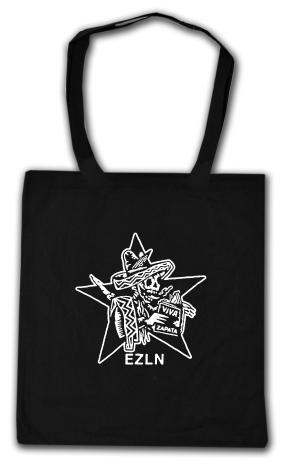 Baumwoll-Tragetasche: Zapatistas Stern EZLN