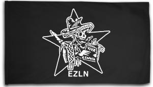 Fahne / Flagge (ca. 150x100cm): Zapatistas Stern EZLN