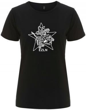 tailliertes Fairtrade T-Shirt: Zapatistas Stern EZLN