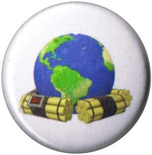 50mm Button: Zeitbombe Erde