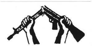 Aufkleber: Zerbrochenes Gewehr