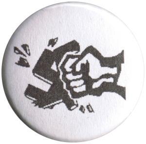 37mm Magnet-Button: Zerschlagenes Hakenkreuz