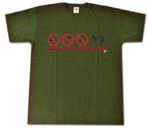 T-Shirt: Zerstöre nicht Dich - Zerstöre den Feind!
