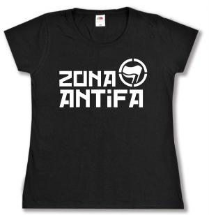 tailliertes T-Shirt: Zona Antifa