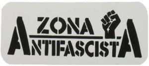 Aufkleber: Zona Antifascista