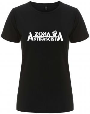 tailliertes Fairtrade T-Shirt: Zona Antifascista