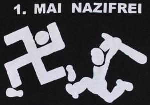 Detailansicht Girlie-Shirt: 1. Mai Nazifrei