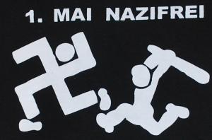 Detailansicht Kapuzen-Pullover: 1. Mai Nazifrei