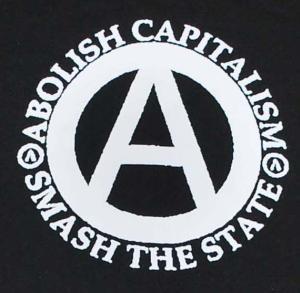 Detailansicht Sweat-Jacket: Abolish Capitalism - Smash The State