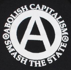 Detailansicht Kapuzen-Pullover: Abolish Capitalism - Smash The State