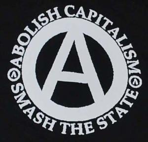 Detailansicht Kapuzen-Jacke: Abolish Capitalism - Smash The State