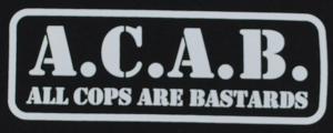 Detailansicht Top / Trägershirt: A.C.A.B. - All cops are bastards