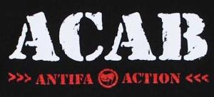 Detailansicht Kapuzen-Pullover: ACAB Antifa Action