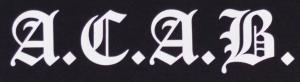 Detailansicht Girlie-Shirt: A.C.A.B. Fraktur