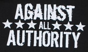 Detailansicht Kapuzen-Pullover: Against All Authority