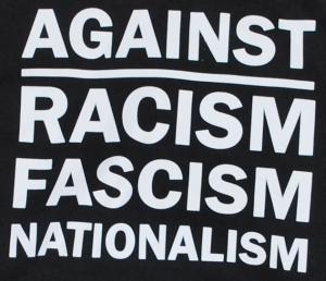 Detailansicht Kapuzen-Pullover: Against Racism, Fascism, Nationalism